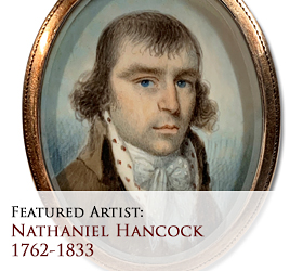 Biographical article on Nathaniel Hancock, early American miniature portrait painter