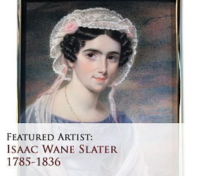 Biographical article on Isaac Wane Slater (often confused with his brother, Joseph Slater, and conflated into the erroneous persona of Joseph W. Slater), 19th century English miniature portrait painter/artist
