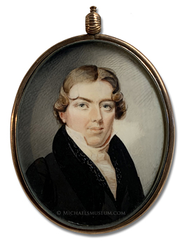Portrait Miniature attributed to Daniel Dickinson of a Jacksonian Era American girl