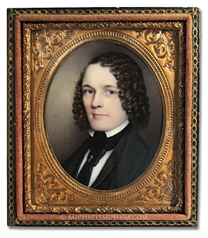 Portrait miniature by Sarah Peters (later Grozelier) depicting Benjamin Sumner Procter at about the age of 25