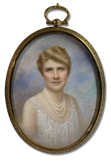 "Portrait Miniature by P. Phillips Depicting Elizabeth ""Bess"" Efferson Carpenter of New York"