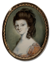 Portrait Miniature by John Ramage of an Early American Lady