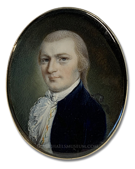 Portrait Miniature by John Ramage of Killian K. Van Rensselaer (1763-1845)