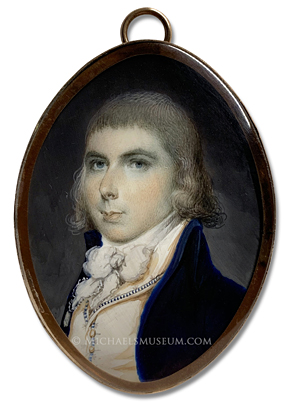 Miniature Portrait by Archibald Robertson of a young gentleman of the Federalist Era