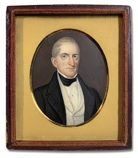 Portrait miniature of an unknown Jacksonian era gentleman -- artist unknown