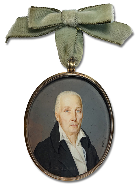 Portrait miniature by Philippe R. Vallée (often confused with Jean François Vallée) depicting a New Orleans gentleman of the early nineteenth century