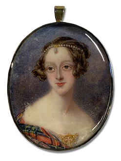 Portrait miniature by Maria Chalon, depicting Isabella Duncanson Noble, Youngest Sister of Lt. Col. James Noble