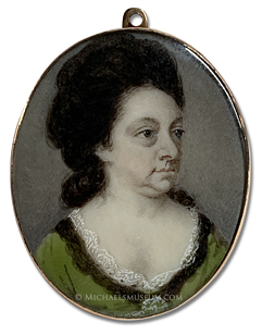 Portrait miniature by Patrick John McMorland, depicting Dorothy Stretton (1722-1784)