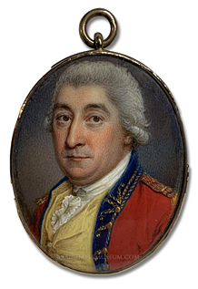 Portrait miniature by James Scouler, depicting a Georgian Era British Army Officer