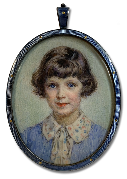 Portrait miniature by Frank Samuel Eastman of Kathleen Leslie Branch Price, painted at the age of 9