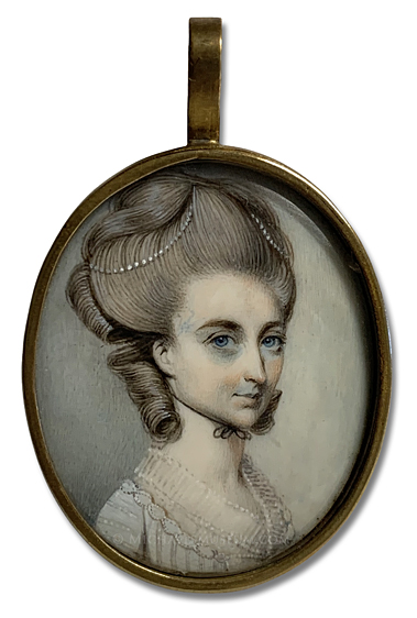 Portrait miniature by George Engleheart, depicting Mary Tymewell Blake (1757-1841), Who Later Became Mrs. George Anson Nutt