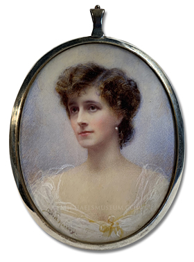 Portrait miniature by Mabel Lee Hankey of Lady Jane Seymour Combe Née Conyngham