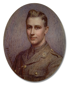 Portrait miniature by Ida Frances Laidman depicting a World War I Era Canadian Military Doctor