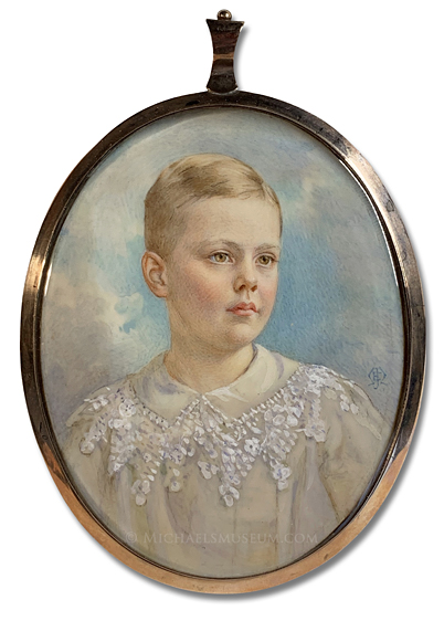 Portrait miniature by Edith Jane Maas of Thomas Henry Hamilton Perrot