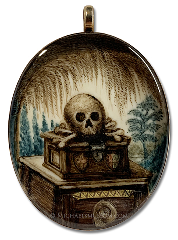 Memento mori miniature portrait in the Tormey-Holder collection