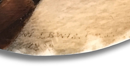 Signature of William Lewis, Early American miniature portrait painter.
